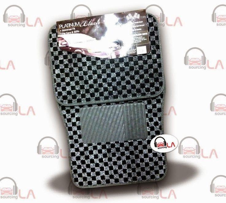 Sourcing-LA: BDK 4Pcs Floor Matts Checkered Style Print ( Grey ...