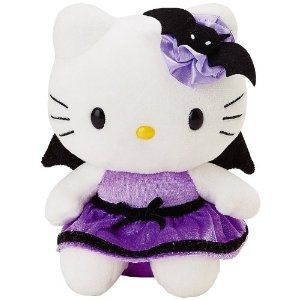 Goth hello kitty plush.  I NEED this!!!!!