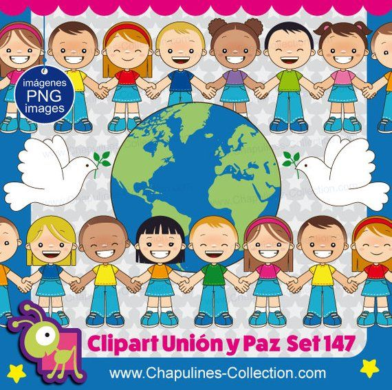 Union And Peace Clipart United Nations Day Kids Clipart Etsy Clip Art Kids Clipart Paper Piecing Scrapbooking