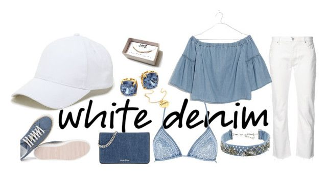 """""""Summer Denim"""" by nikush-14263369628 ❤ liked on Polyvore featuring Nili Lotan, Sole Society, Madewell, Tory Burch, Miu Miu, Ermanno Scervino Lingerie, Mignonne Gavigan, StreetStyle, Summer and Spring"""