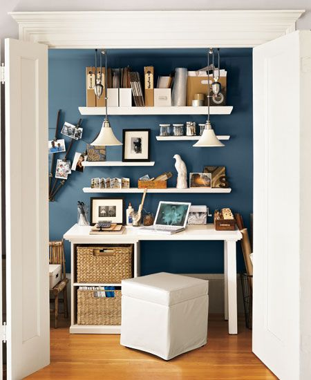 17 best ideas about small office spaces on pinterest small office design office room ideas - Small space shelves concept ...