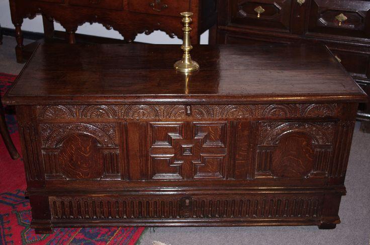 James I oak chest with drawer. Circa 1620 www.robinwheatley-antiques.co.uk