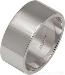 9mm Silver Flat Profile Wedding Ring