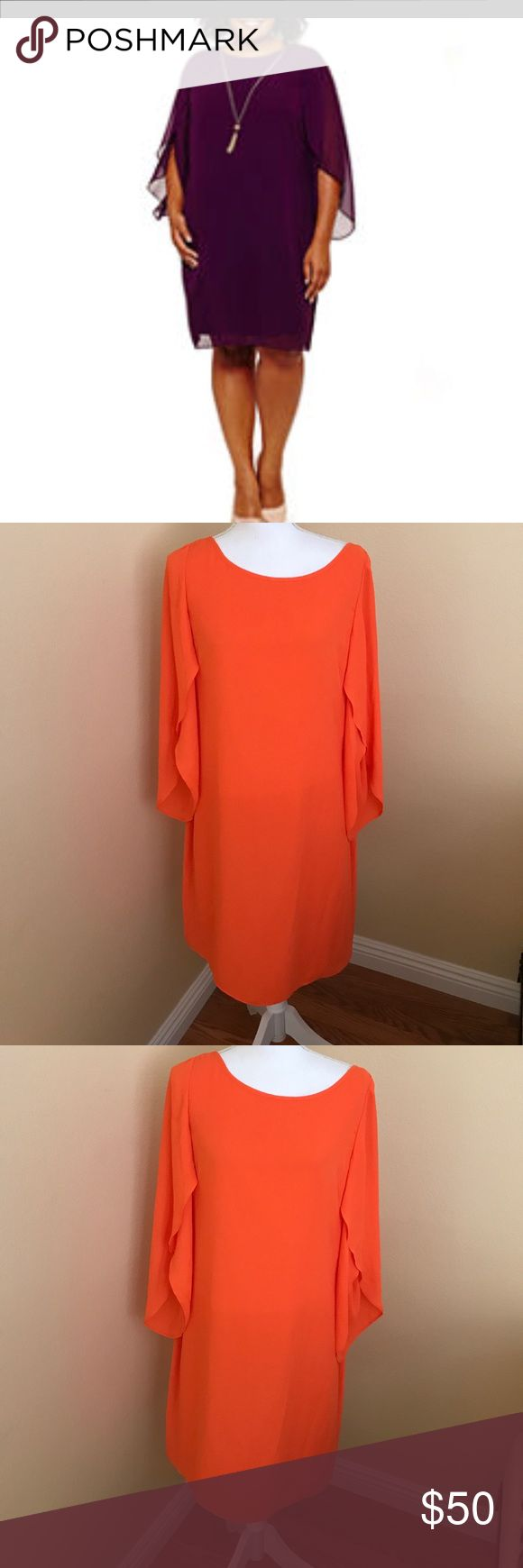 🍁🍁 London Times very cute dress.🍁🍁🍁 Very pretty orange 3/4 Sleeve dress. This dress is perfect to ware to dinner or church. London Times Dresses Midi