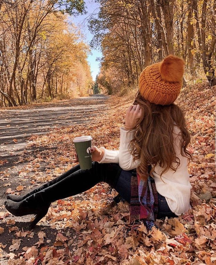 Надписью когда, картинки прикольная девушка осень
