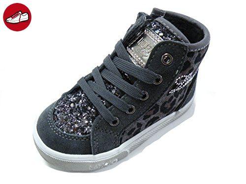 LIU-JO GIRL Schuh hohe Leopardenmuster Reißverschluss Grau weiblich grau, grau - grau - Größe: 22 (*Partner-Link)