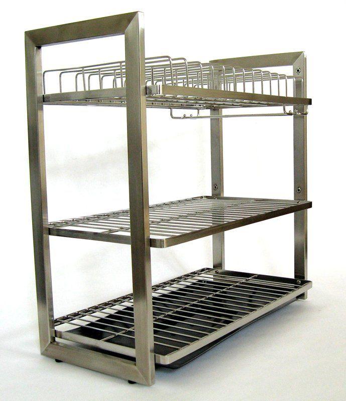 Patagonia 3 Tier Stainless Steel Dish Rack Dish Racks Kitchen Sink Accessories Steel Racks