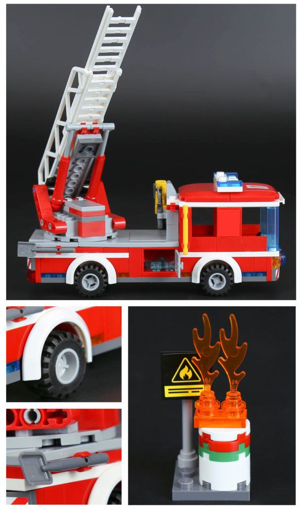 LEPIN 02054 Fire Ladder Truck Lego 60107 freeshipping dropshipping