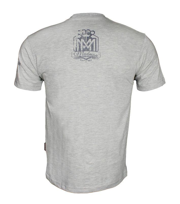 Koszulka 'Logo' szara - tył ---> Streetwear shop: odzież uliczna, kibicowska i patriotyczna / Przepnij Pina!