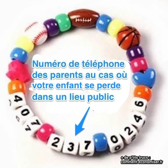 Voici LA super bonne idée au cas où vous perdiez votre enfant dans une foule : un simple bracelet.  Découvrez l'astuce ici : http://www.comment-economiser.fr/bracelet-enfant-perdu.html?utm_content=buffer0b517&utm_medium=social&utm_source=pinterest.com&utm_campaign=buffer