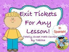 Exit tickets in Spanish (Boletos de Salida)