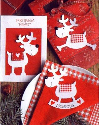 reindeers | Christmas greeting cards - paper craft pattern