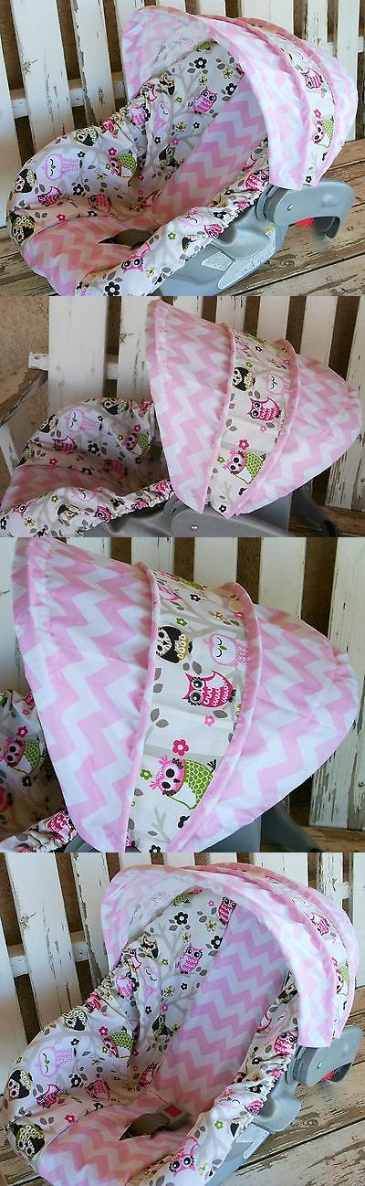 Car Seat Accessories 66693: Infant Car Seat Cover And Hood Cover Sit N A Tree Owls And Pink Chevron -> BUY IT NOW ONLY: $42 on eBay!