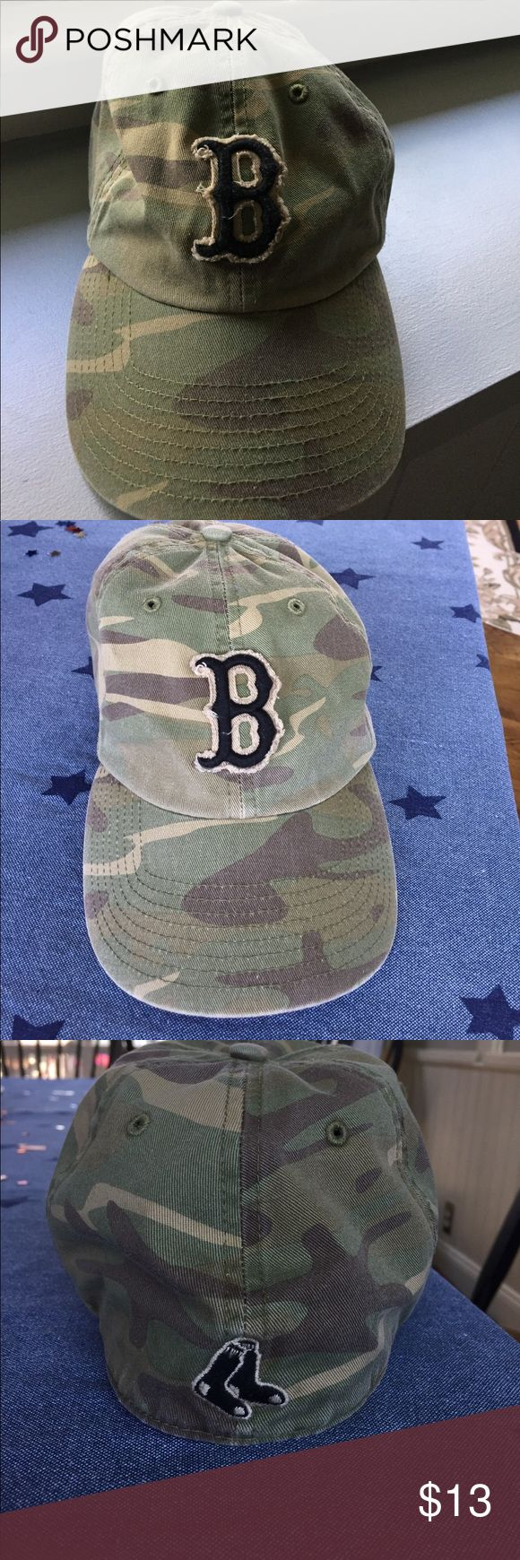 Boston Red Sox Hat Camouflage fitted Boston Red Sox Hat... love this hat... very good condition.. 47 Brand.. bought on Yawkey Way @ a Red Sox game 47 Brand Accessories Hats