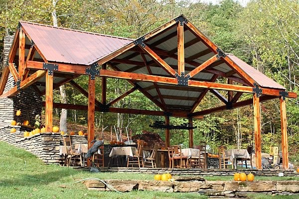 The Wine Pavilion - built w/ help from Wood-Mizer sawmill...