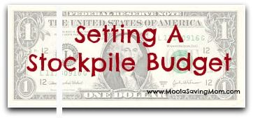 Setting a Stock Up Budget - Moola Saving Mom