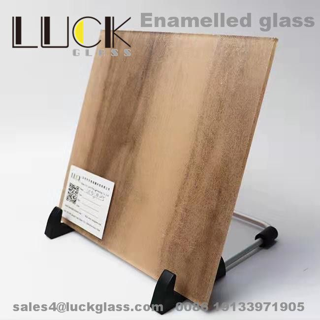 New Design Enamelled Glass Screen Printing Glass Wall Cladding Back Painted Glass