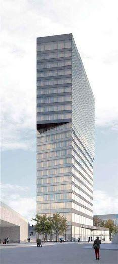 Andreasturm office building by Gigon/Guyer Architekten (Zurich, Switzerland) #architecture