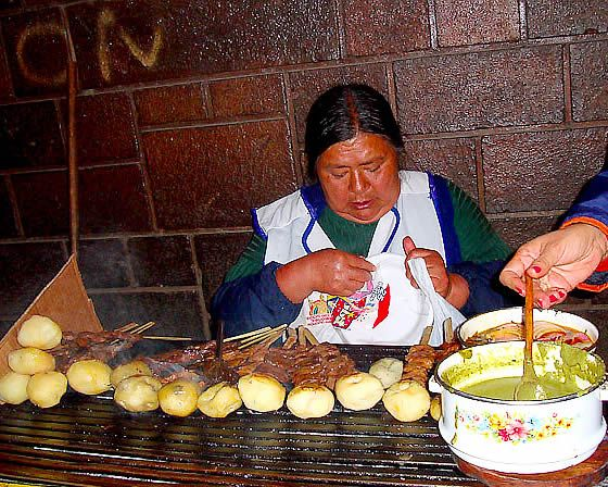 Anticucho in Cusco