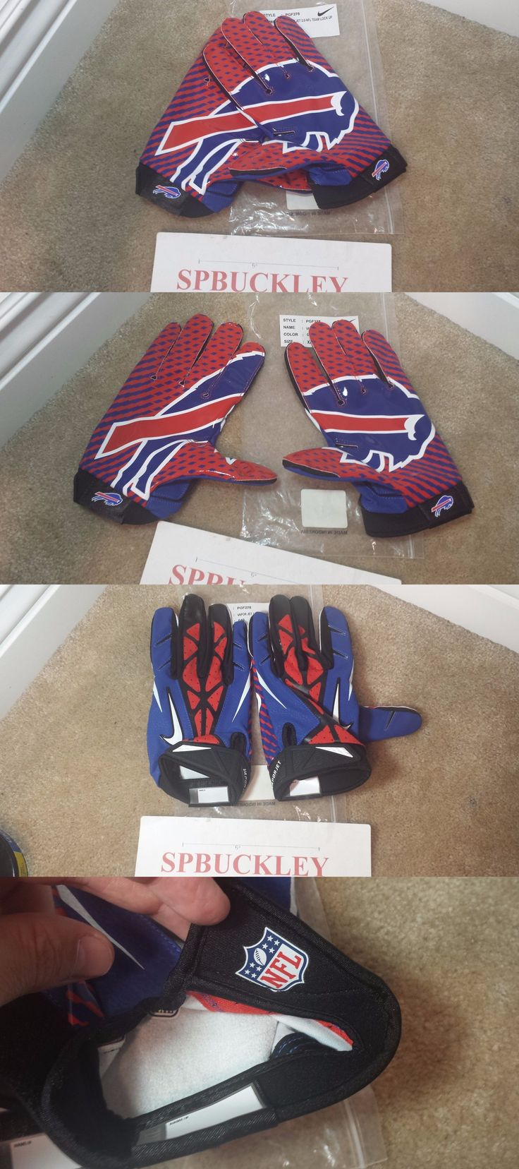 Gloves 159114: Nike Vapor Jet 2.0 Lock Up Nfl Buffalo Bills Xxl Receivers Football Gloves, Nwt -> BUY IT NOW ONLY: $59.99 on eBay!