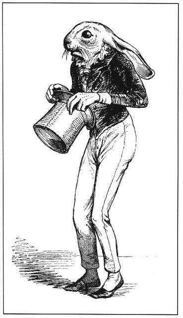 Hare from Scenes de la Vie Privée et Publique des Animaux. Illustrated by J. J. Grandville, 1803-1847. Fantastic Ornaments, (Paris: L'Aventu...