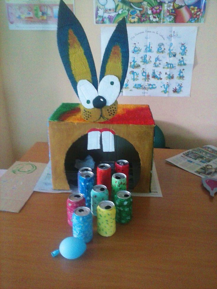 5 juego de punter a latas y cart n juguetes con - Manualidades para ninos faciles y divertidas ...