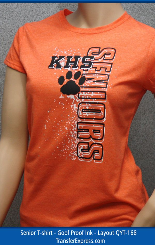 Senior T Shirt Idea. Change Out The Paw Clip Art With Your School Mascot