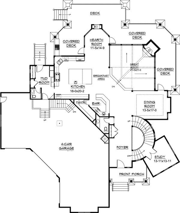 Corner Lot House Plans With Pool