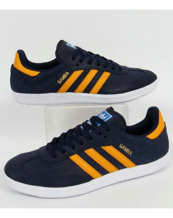 Cracking colourway Collegiate Navy/Amber Sambas