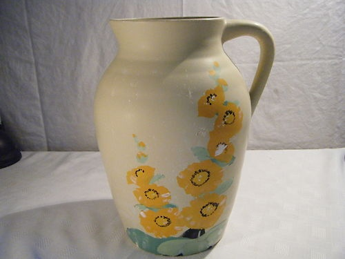 Large Art Deco Whieldon Brentleigh Ware Jug Vase Ebay Art Deco Ceramic Art