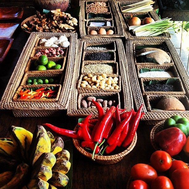 Ingredients for a cooking class in Ubud, Bali, Indonesia #cuisine #cooking #Bali