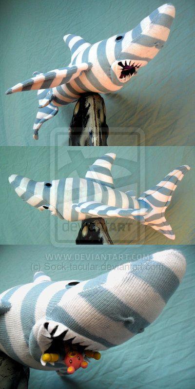 'Feargal Sharkey' sock shark by Sock-tacular