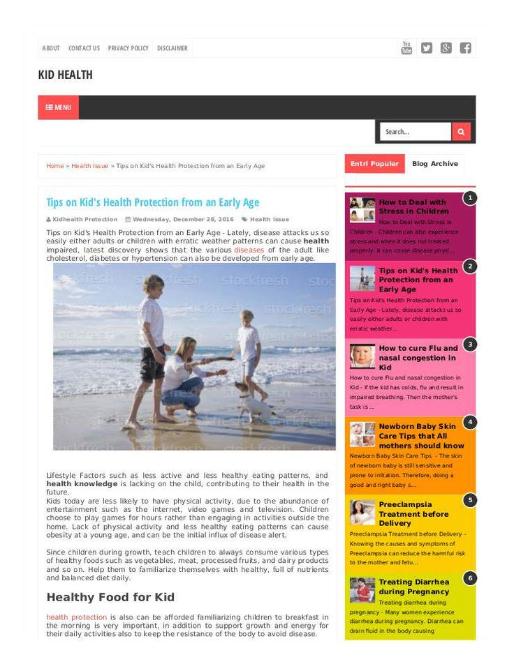 """""""Tips on Kid's Health Protection from an Early Age"""" published by @Ihsanumraity on @edocr"""