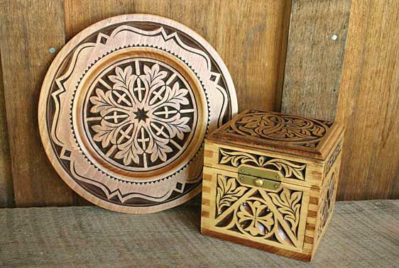 Chip carvings by wayne barton a woodcarving instructor at