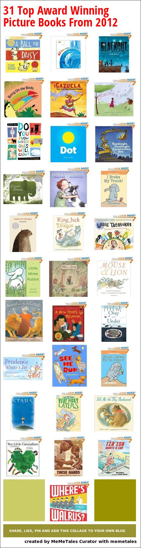 31 Top Award Winning Picture Books From 2012