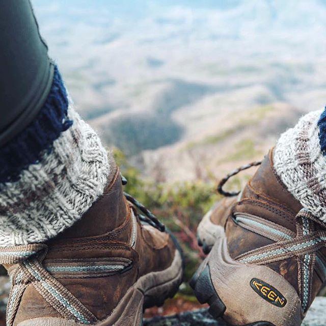 """""""The best views come after the hardest climbs."""" - @carolineszuke #KEEN"""