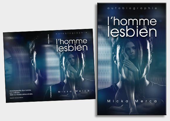 A partir de la page blanche, l'auteur souhaite : « la silhouette d'un buste d'homme, dans laquelle on aperçoit une femme nue ». Suite à une recherche de visuels de base dans notre photothèque, nous avons fait ce montage, en travaillant le clair/obscur. #coverbook