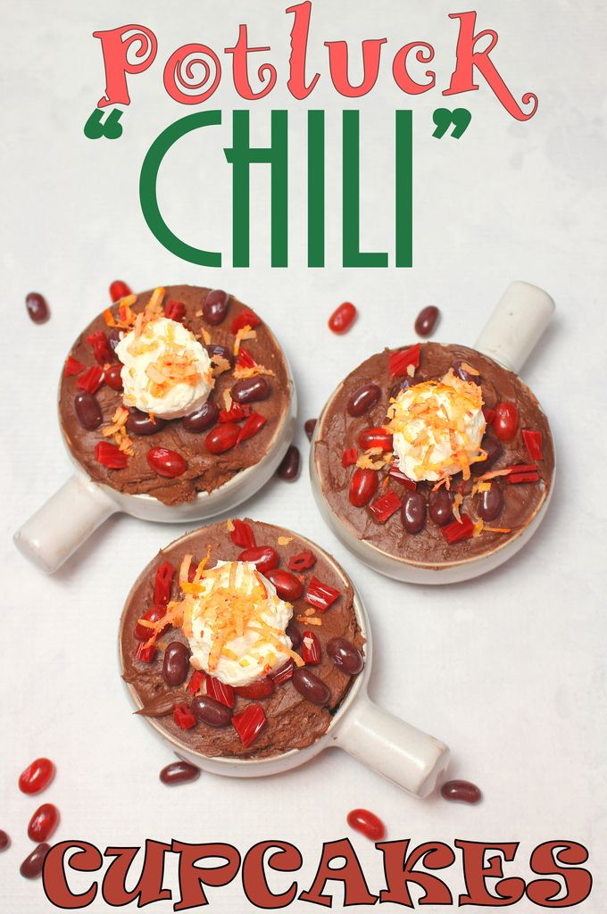 The perfect dessert to prank your friends and family on APRIL FOOL'S DAY--->>>Potluck Chili Cupcakes #SundaySupper