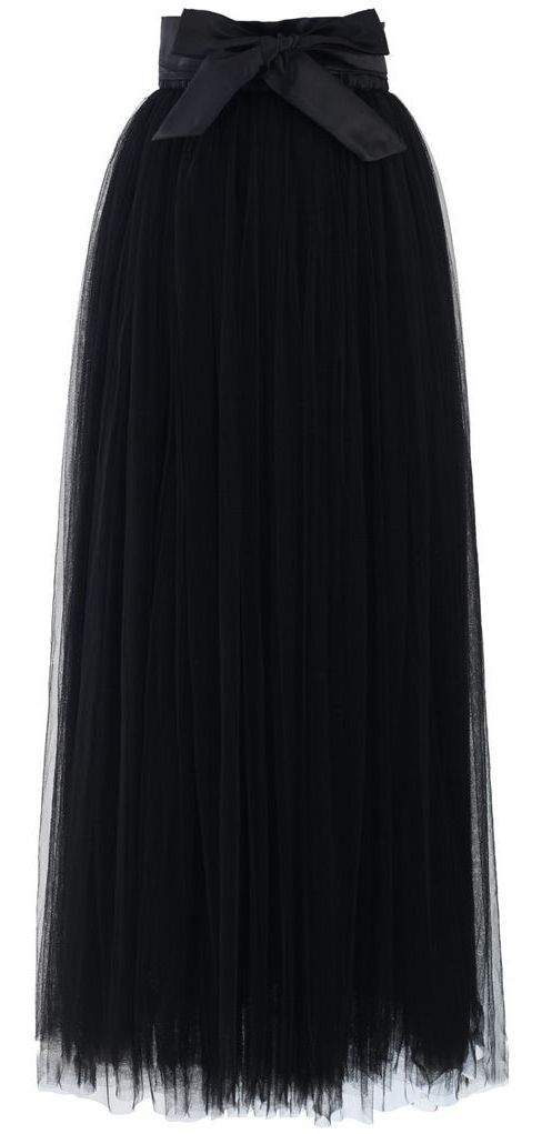 black tulle maxi skirt <3