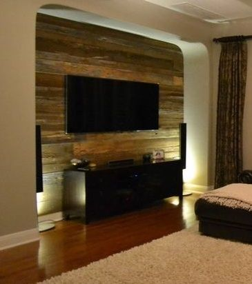 16 best Recycled Wood Project images on Pinterest Reclaimed wood - wood wall living room