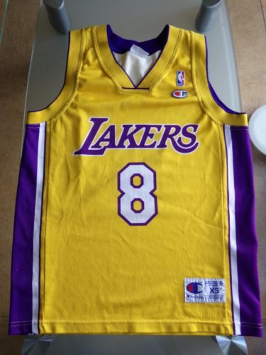 Jersey-maillot-XS-KOBE-BRYANT-champion-Lakers-Los-Angeles-90-039-s