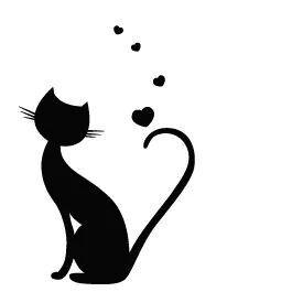 17 Best images about 1s Cat Silhouettes on Pinterest | Clip art ...