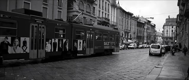 Here it is the black and white version of the video you can watch here https://vimeo.com/121652963 .  This is a video I shot the last time I went to Milan with my brand new Panasonic GH4 and a cheap Olympus 14-42. Nothing more than a test of my new camera and I also had the chance to grade the video with Magic Bullet Looks and the new tool Magic Bullet Film.