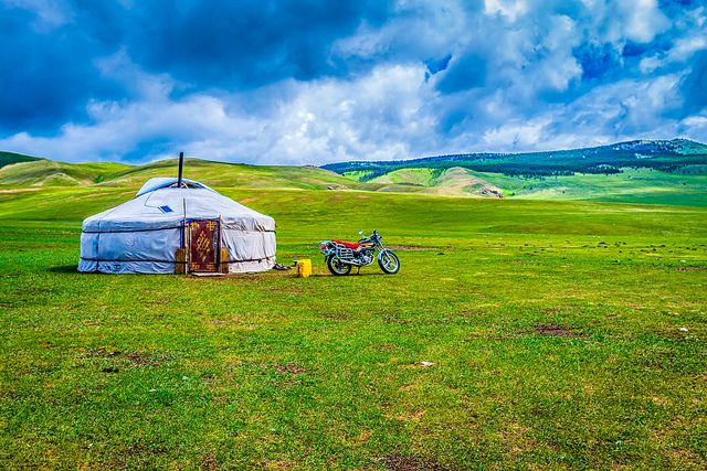 I could enjoy some time in this yurt in Mongolia...