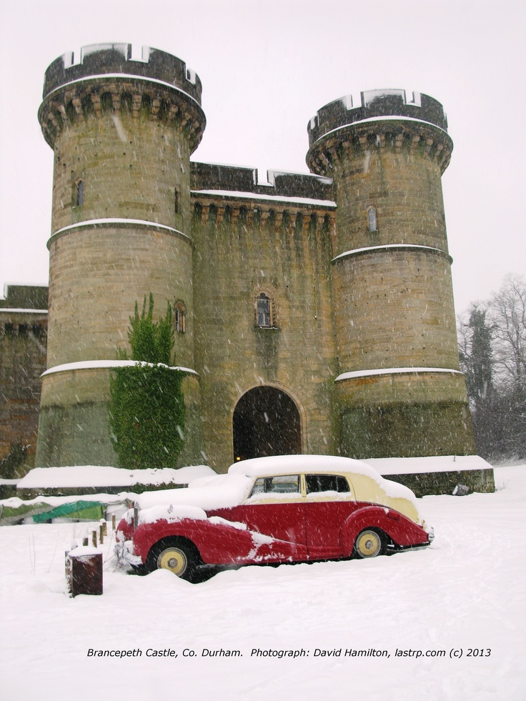 Bracepeth Castle with a dusting of snow.  Would this be a suitable Christmas card cover?  I would appreciate your thoughts.