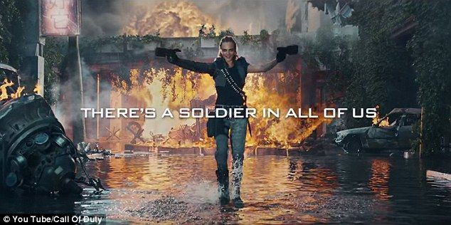 Badass: Cara Delevingne plays a cold-hearted killer in the trailer for the new Call Of Duty game