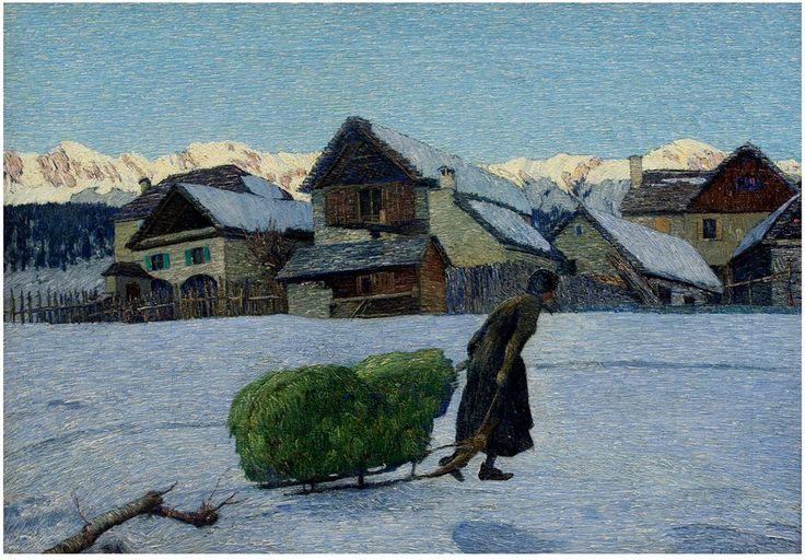 Carlo Fornara (1871-1968) - Ultimi raggi (The Last Rays of the Sun)
