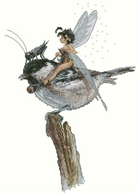 Fairy on the Bird and Grasshopper by Monge Jean-Baptiste