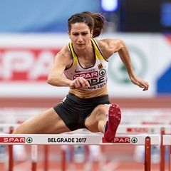 Women's 60m hurdles semifinals at the light athletics European championships in Serbia