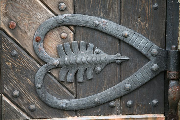 This is hardware from the Gjerpen church in Gjerpen, Telemark, Norway.   #hearts